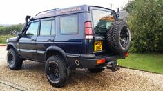 on HD springs (these gave about lift) + spring spacers Land Rover Discovery 1, Discovery 2, Land Rover Off Road, Off Road Adventure, Wheels And Tires, Land Rover Defender, Range Rover, Offroad, Landing