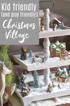 Kid Friendly Christmas Village that also Doubles as Decor! #christmasvillage #childfriendly