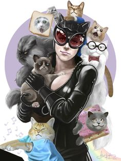Catwoman Loves the Internet by mkmatsumoto