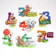 The 7 Habits of Happy Kids Character Poster Set - The Leader in Me Store