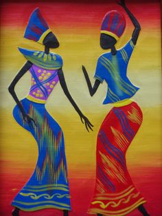 African Paintings Of Women                                                                                                                                                                                 Mais