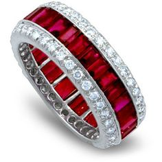 Ruby anniversary ring, a little color is always nice