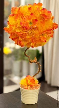 """Топиарии ручной работы. Ярмарка Мастеров - ручная работа Топиарий """"Оранжевое настроение"""". Handmade."""