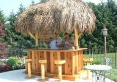 Tiki bar plans for easy and simple DIY construction. Tiki Bar Designs. Tiki Bar Kits.    Tiki bars are as evocative and atmospheric as few landscaping...
