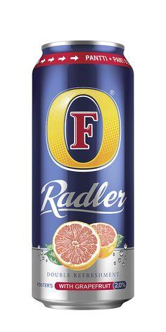 Suosikkijuoma Foster's Radler Grapefruit 2,0% palaa markkinoille kesään 2015.Foster's Radler Grapefruit on raikas ja mieto yhdistelmä Foster's olutta ja greippivirvoitusjuomaa. Radler Grapefruit on maultaan hieman kirpeämpi ja vähemmän makea kuin Radler Cloudy Lemon. Virkistävän Foster's Radler Grapefruit –juoman alkoholipitoisuus on vain 2,0 til.-%.