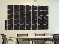 Tableau noir Planner grand mur autocollant