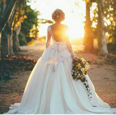Wedding dress lace backless longsleeved                                                                                                                                                                                 More