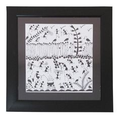 Introducing our  NewCollection of  WarliPainting  ModernArt The Acrylic  frame appears to be simple b9be88a654