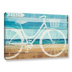 ArtWall Michael Mullan's Beachscape Cruiser I, Gallery Wrapped Canvas