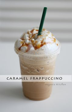 Forget about heading to Starbucks for coffee fix and make your own caramel Frappuccino at home! Eugenie Kitchen Forget about heading to Starbucks for coffee fix and make your own caramel Frappuccino at home! Starbucks Caramel Frappuccino, Starbucks Drinks, Caramel Frappe Recipe, How To Make Frappuccino, Starbucks Coffee, Carmel Frappe, Vanilla Bean Frappachino Starbucks, Frappuccino Recipe Xanthan Gum, Starbucks Caramel Iced Coffee Recipe