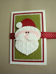 handmade christmas cards | , Wonderful Santa Claus Greeting Cards Holder Cool Homemade Christmas ...