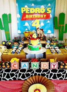 Check out this awesome Toy Story birthday party! The birthday cake is so much fun!! See more party ideas and share yours at CatchMyParty.com