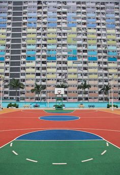 """walls-to-the-ball:  """" stunning pictures of roof-top basketball courts in Japan by Kaid Ashton  """""""