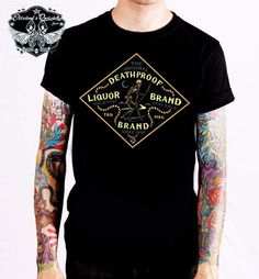 Liquor Brand T-Shirt Night Reaper.Tattoo,Biker,Oldschool,Rockabily,Custom Styles