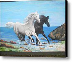 Horses Canvas Print / Canvas Art By Defrim Hoxha