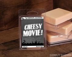 CHEESY MOVIE SOAP by Deeply Dapper Custom Soap for by DapperSoaps, $6.00 Our Geeky and Wonderful Soaps, available on www.deeplydapper.com and https://www.etsy.com/shop/DapperSoaps