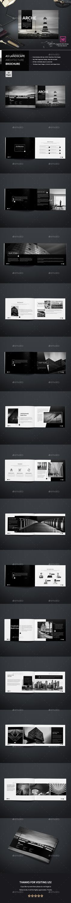 Landscape Architecture Brochure — InDesign INDD #minimal #architecture • Download ➝ https://graphicriver.net/item/landscape-architecture-brochure/20334746?ref=pxcr