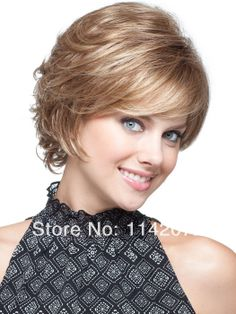 Lady synthetic lace front wig with bangs,front lace weld mono light brown Free Shipping $100.00