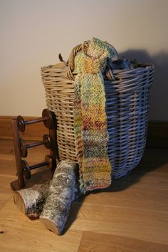 Soft Scarf in hand-spun, naturally dyed wool £20.00
