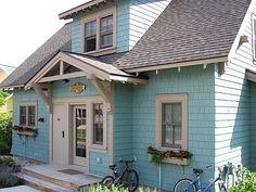 I love, love LOVE Easter egg colored houses!