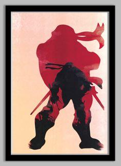 Ria   Ninja Turtles Raphael Poster   redditgifts