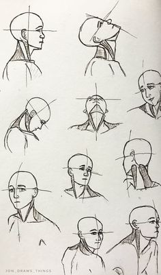 Wie das Gesicht vom Bleistift zu zeichnen How to draw the face with a pencil # pencil Neck Drawing, Drawing Heads, Body Drawing, Drawing Poses, Drawing Tips, Drawing The Human Head, Anatomy Sketches, Anatomy Drawing, Anatomy Art