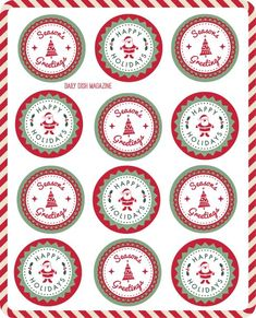 FREE Seasons Greetings Gift Tags Printable. Decorate or Add a String and Label. Simply Print and Cut!