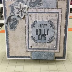 Frosted by Kaisercraft. Diy Cards, Handmade Cards, Christmas Cards, Blue Christmas, Christmas And New Year, Winter Cards, Give It To Me, How To Make, Mini Albums