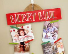 What a perfect way to display all of my Christmas Cards!  Adorable and functional!