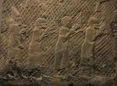 """""""They that carried us away captive required of us a song"""" - Psalm 137:3  - ill. Hebrew Prisoners of War Playing Lyres - Sennacherib's Palace at Nineveh"""