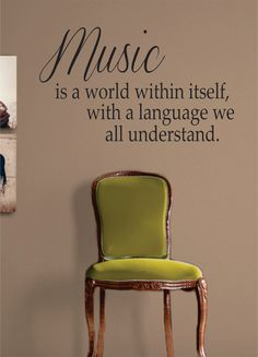 Music quote above piano