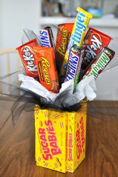 Candy bouquet w/how to.