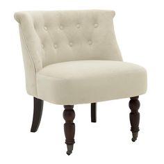 Кресло с класическа визия и крачета на колелца