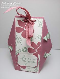 Ann's Happy Stampers: Beautiful Gift Bag using Stampin Up! supplies
