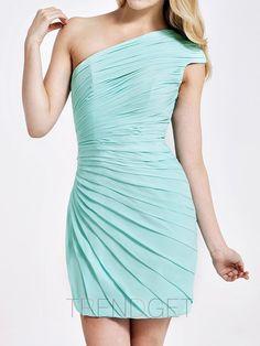 Attractive Sheath / Column Short / Mini Chiffon Bridesmaid Dresses - $144.99 - Trendget.com