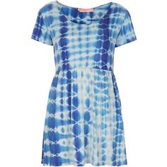 **Tie Dye T-Shirt Dress by Oh My Love ($27) ❤ liked on Polyvore featuring dresses, vestidos, tops, casual dresses, blue, tye dye dress, tiedye dresses, tie dyed dresses, tie dye t shirt dress and oh my love dress