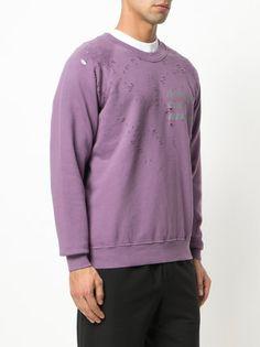Satisfy Sweatshirt in Distressed-Optik