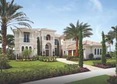 House Plans   Stone Veneer  Tuscan Mediterranean Style Luxury    Luxury Residence and House Plans  Palm Beach Lifestyle Home Designs  Tall Entrance  double