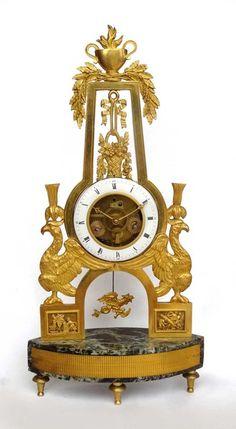 French Empire mantel clock.Movement is overhauled.  Circa 1820