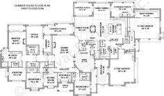 The Humber Mansion floor plan is an amazement to anyone's eyes! This luxury house plan includes over SQ FT of formal luxury and casual elegance Large House Plans, House Plans One Story, One Story Homes, Best House Plans, Dream House Plans, Story House, House Floor Plans, House Plans Mansion, Luxury House Plans