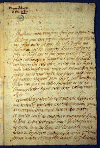 Last letter of Mary, Queen of Scots. In her last letter, Mary claims that she is being persecuted solely for her faith and for her rights to the English throne...I just love the drama between Elizabeth and Mary...One of my favorite stories from Tudor England.