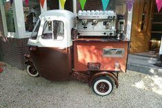 Vespa Ape espresso cart.