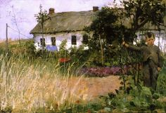 Among the Cabbages, 1881 , by Theo van Rysselberghe