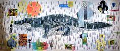 "SWAMP THANG: Francis X. Pavy's ""Alligator Rain"" Swamp Thang, Summer Rain, Mixed Media, Illustration Art, Gallery, Creative, Artist, Artwork, Textiles"