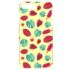 Watermelons, fruits and ice cream, pastel colors, at yellow iPhone Plus Black UV Print Case Iphone 7, Iphone Cases, Apple Mobile, Watermelon Fruit, New Phones, Pastel Colors, Creative Design, Ice Cream, Yellow