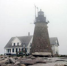 Mount Desert Rock Lighthouse, Maine (1829) One of the most desolate and isolated places ever used for a lighthouse is located 26 miles off shore from the nearest harbor. The rocky islet is only 600 yards long and 200 yards wide, its highest point is only twenty feet above the sea level at low tide. During storms, the entire island is submerged by the waves.