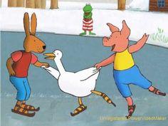 * ▶ Digitaal prentenboek. Kikker en de sneeuwman.- YouTube