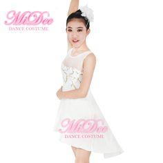 Modern Elegant Sleeveless Lyrical Ballerina Dress Performance Dance Costume For Dance #Affiliate