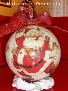 palline di Natale decoupage