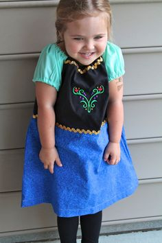 Not only is this perfect for a fairy tale Relay theme...a portion of this shop donates to the fight against Colon Cancer! Princess Anna from Frozen Everyday Princess by BlueRibbonDresses, $24.00